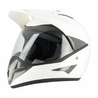 Casque  Blanc M moto enduro
