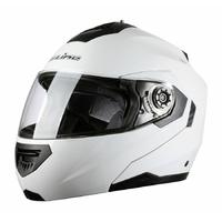 Casque moto intégral modulable S520 Blanc S adulte