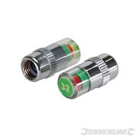 Jeu de 2 valves manométriques pour pneus 2,21 bar