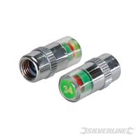 Jeu de 2 valves manométriques pour pneus 2,34 bar