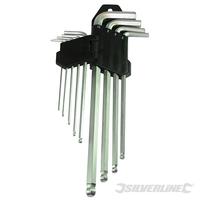 Jeu de 9 clés BTR à tête sphérique Expert 1,5 - 10 mm