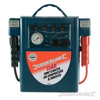Booster Démarreur batterie, compresseur d'air et onduleur 15 Ah