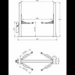 schema dimensions pont elevateur haute levée-4ton-230v
