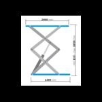 dimensions pont ciseaux 3t