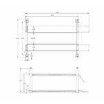 schema dimensions pont 4 colonnes