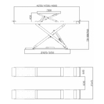 implantation dimensions pont double ciseaux