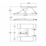 dimensions pont ciseaux eco
