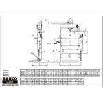 dimensions presse hydraulique bahco