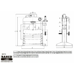 dimensions presse hydraulique bh715 bahco