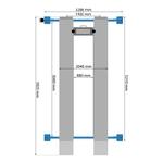 dimensions pont 4 colonnes
