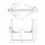dimensions pont elevateur 2 colonnes 220 volts