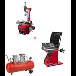 Pack Machine Démonte Pneu 24 Pouces + Équilibreuse de roue automatique + Compresseur 220V