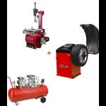 Pack Machine Démonte Pneu 24 Pouces + Équilibreuse de roue automatique Pro + Compresseur 220V