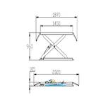 dimensions pont ciseaux 220v 1m