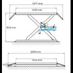 Dimensions pont élévateur ciseaux à poser 3 tonnes 220 volts