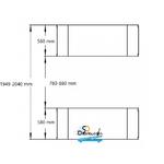 dimensions Pont Élévateur Ciseaux 3T 220 Volts à encastrer
