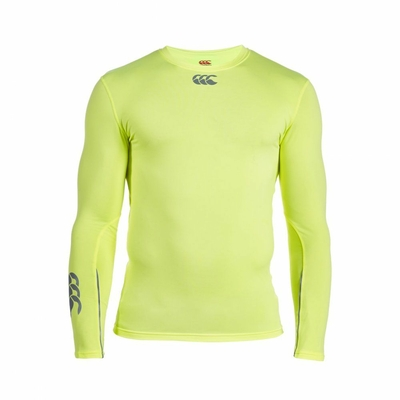 Sous-Vêtement Canterbury Cold Long Sleeve Top Jaune Fluo