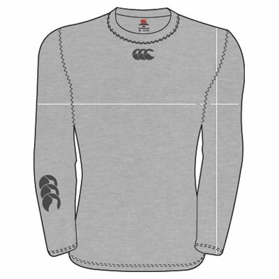 Sous-Vêtement Canterbury Cold Long Sleeve Top Gris