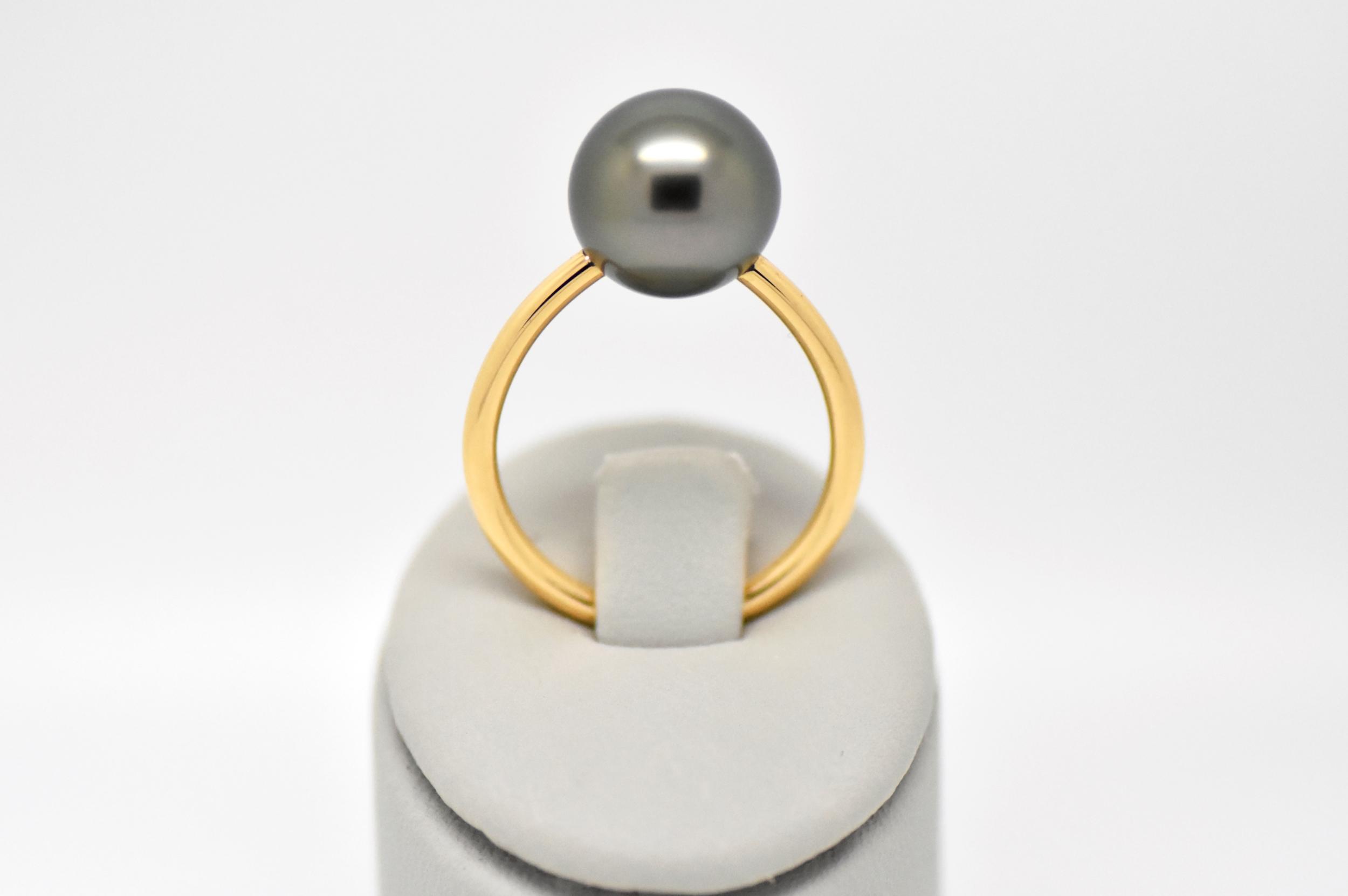 ESSENTIAL yelow gold ring 1 Tahiti pearl