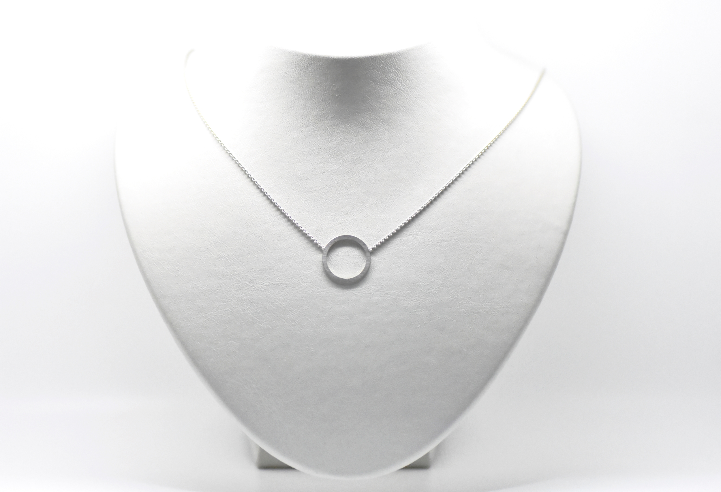 SATURN small white gold ring pendant