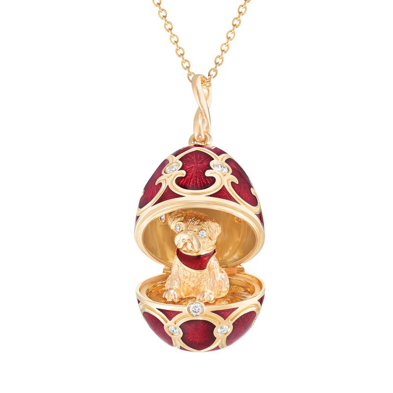 FABERGÉ PALAIS TSARSKOYE SELO RED LOCKET WITH DOG SURPRISE LIMITED EDITION