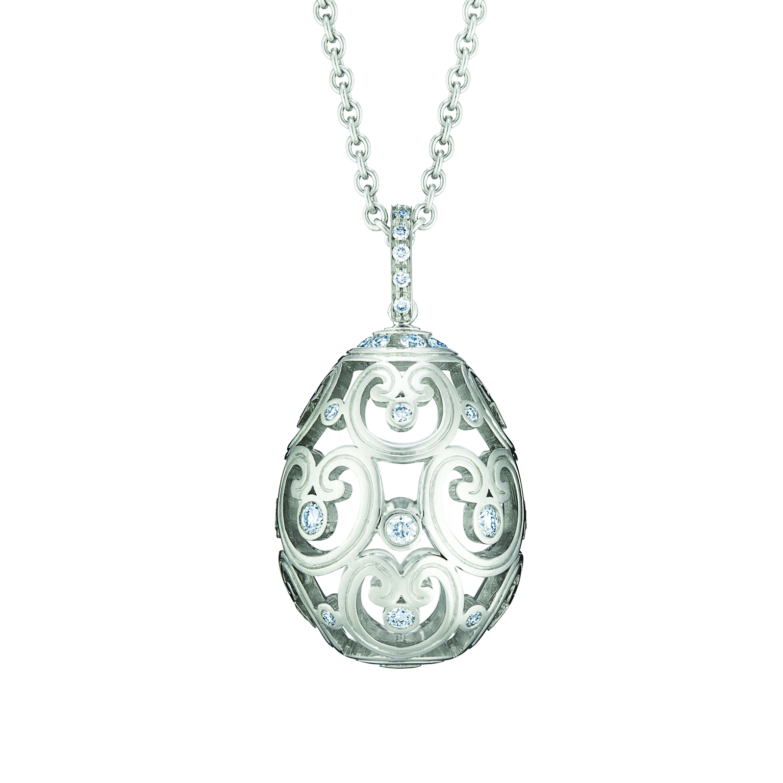 FABERGÉ IMPÉRATRICE DIAMOND WHITE GOLD PENDANT