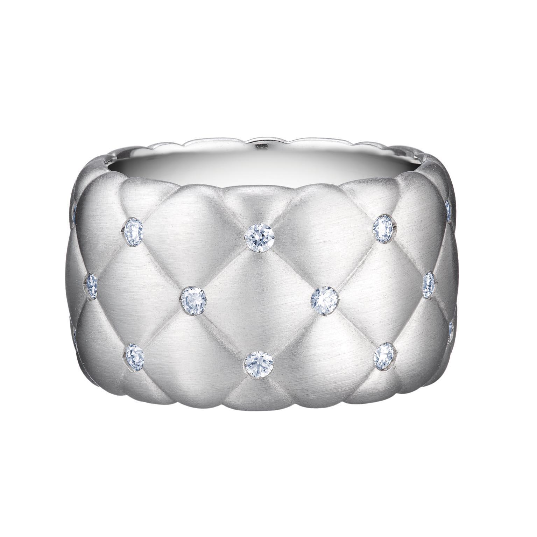 FABERGÉ TREILLAGE DIAMOND WHITE GOLD WIDE RING