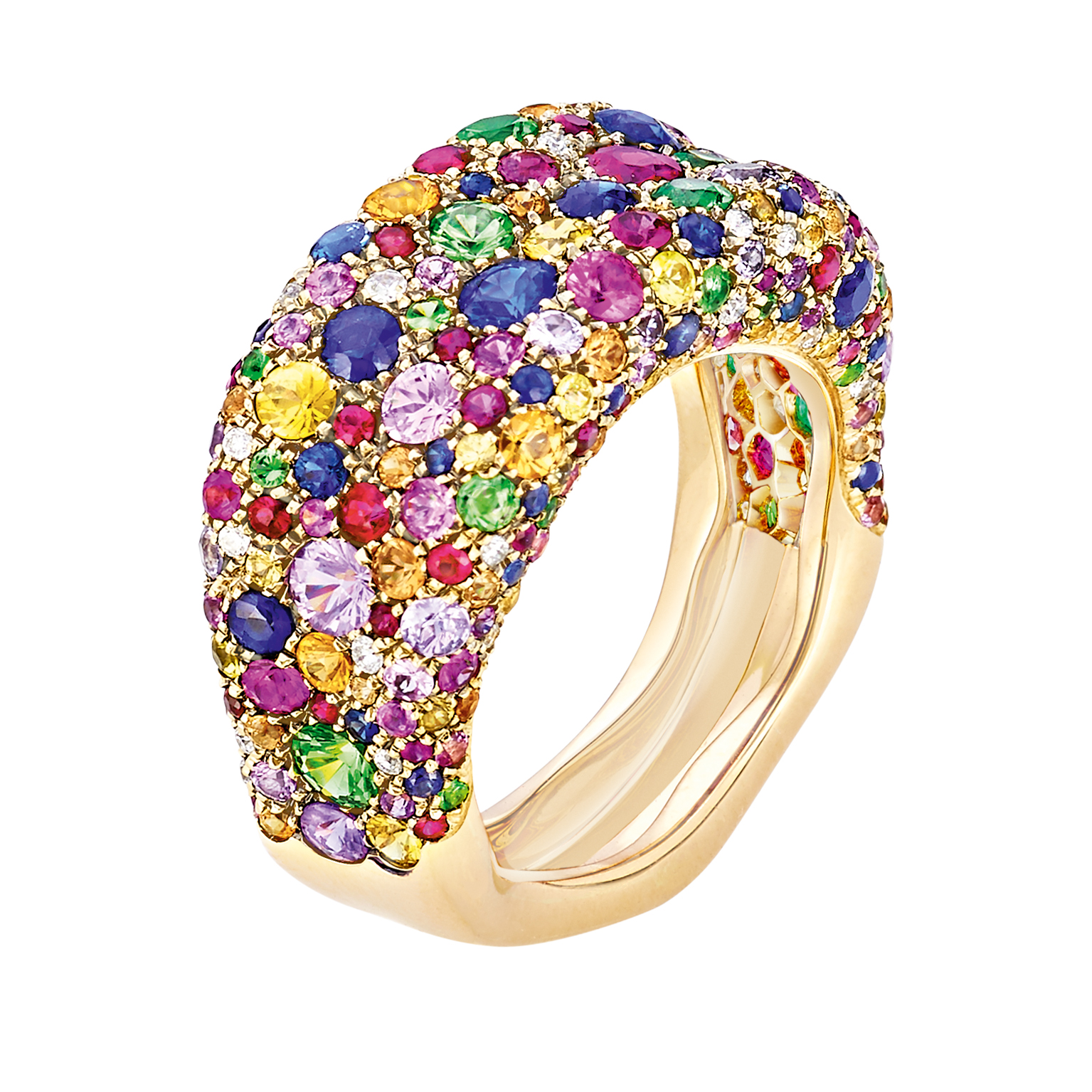 FABERGÉ EMOTION MULTI-COLOURED THIN RING