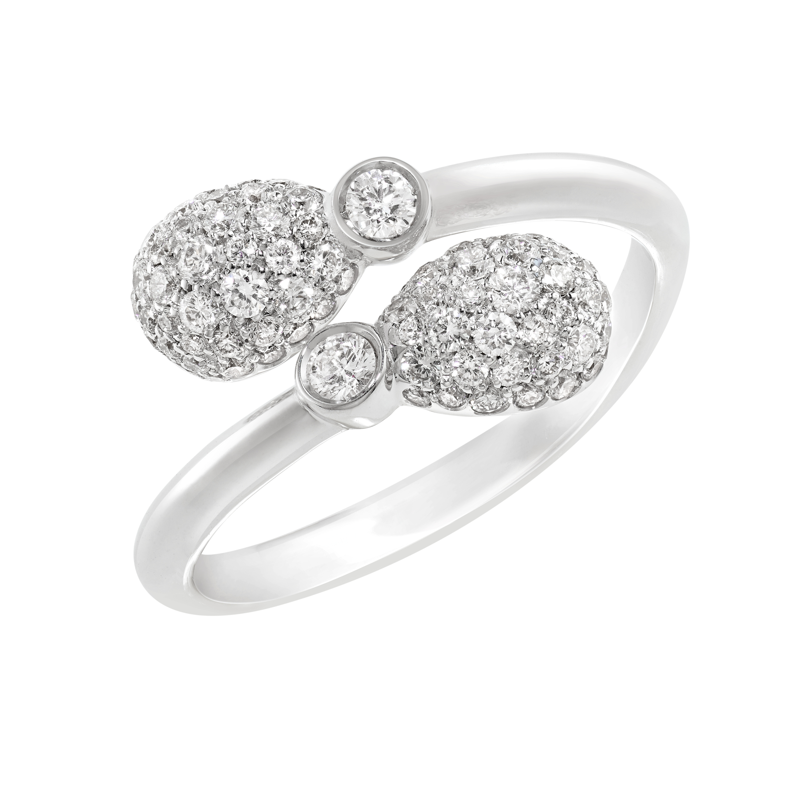 FABERGÉ EMOTION WHITE DIAMOND CROSSOVER RING