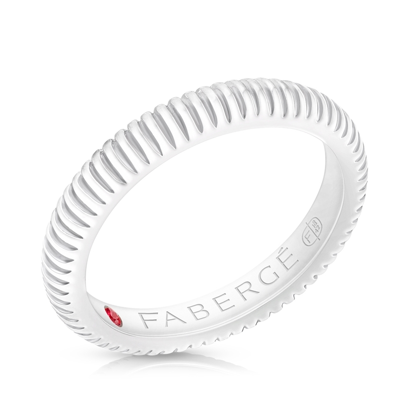 FABERGÉ WHITE GOLD FLUTED BAND