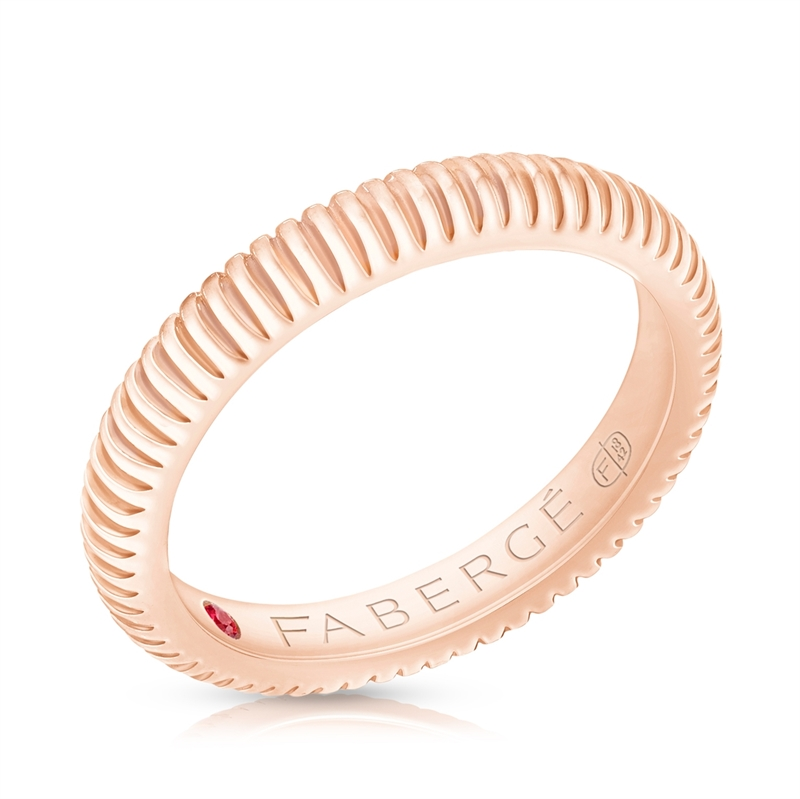 FABERGÉ ROSE GOLD FLUTED BAND