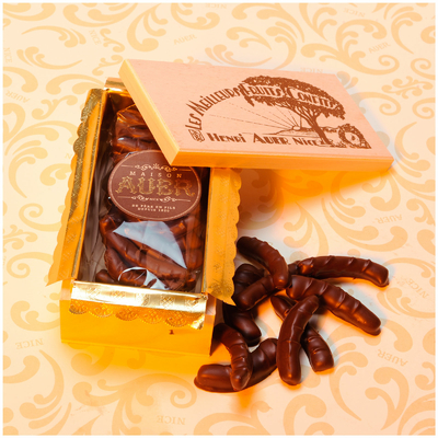 Chocolate Orange Peels Wooden Box