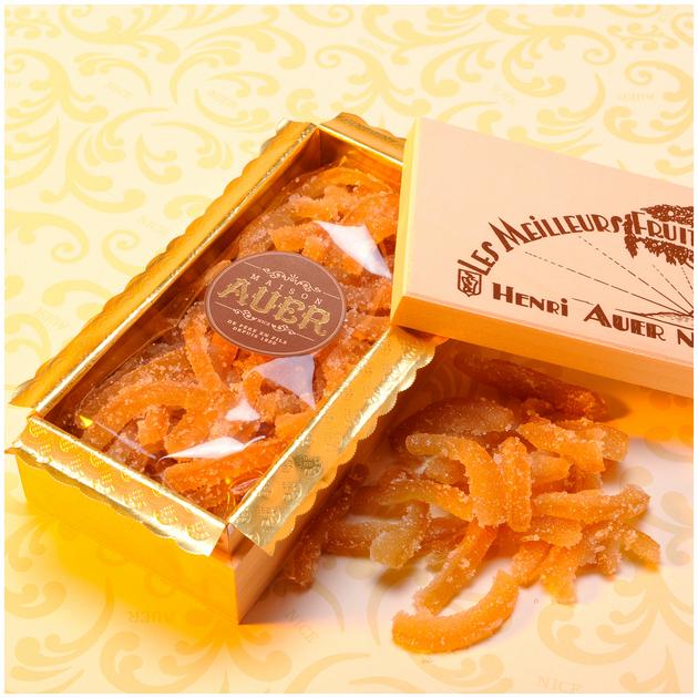 Crystallized Orange Peels Wooden Box - Fruits Confits - auer-en