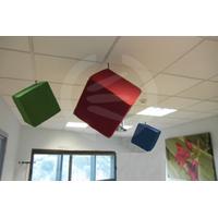 Absorbant acoustique décoratif composé de fibre de mélamine avec finition textile - ACOUSTICUBE -miniumu de commande : 4 soit 378€ l'unité