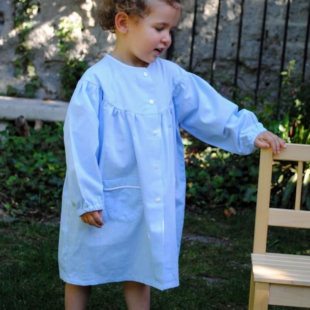 tablier cole fille col rond cielmaternelle dupanloup maternelle bobine. Black Bedroom Furniture Sets. Home Design Ideas