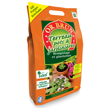 Or Brun ® - Terreau pots et jardinières 20L