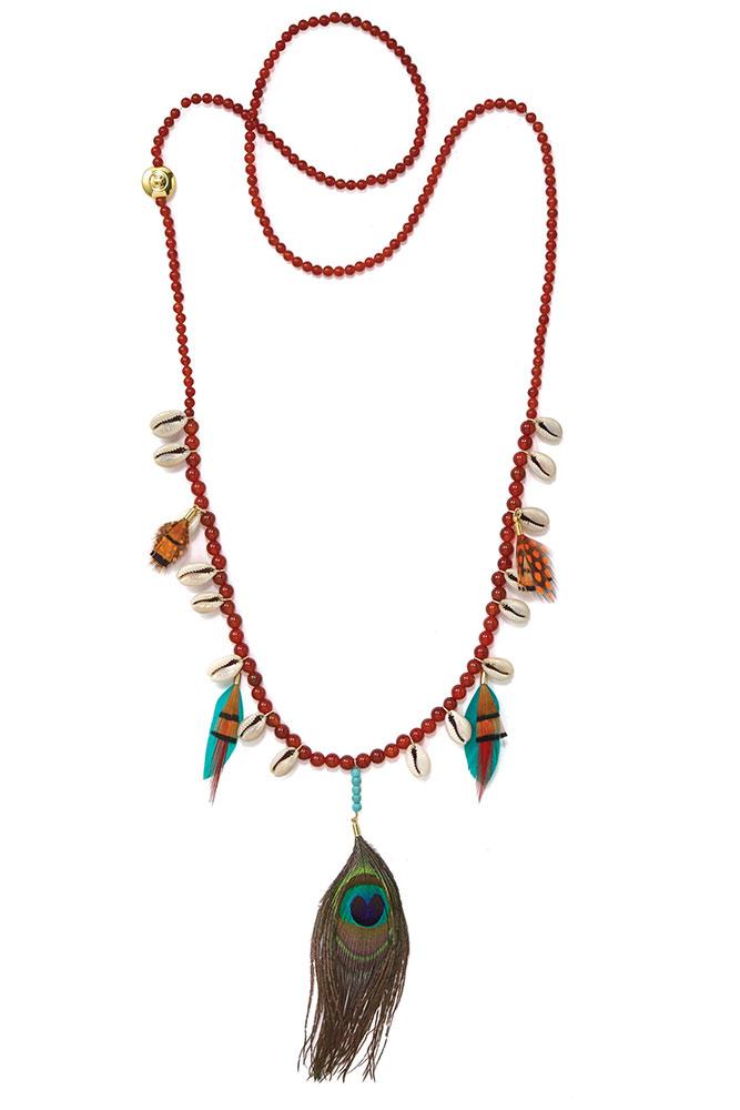 size 40 59a59 fcbf8 Collana Layla marrone multicolore - Hipanema gioielli estate ...