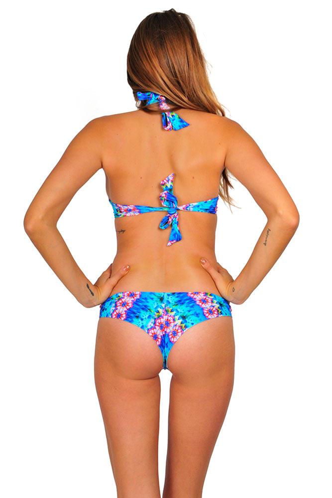 Costume tanga sexy blu multicolore costume brasiliana - Costumi da bagno tanga ...