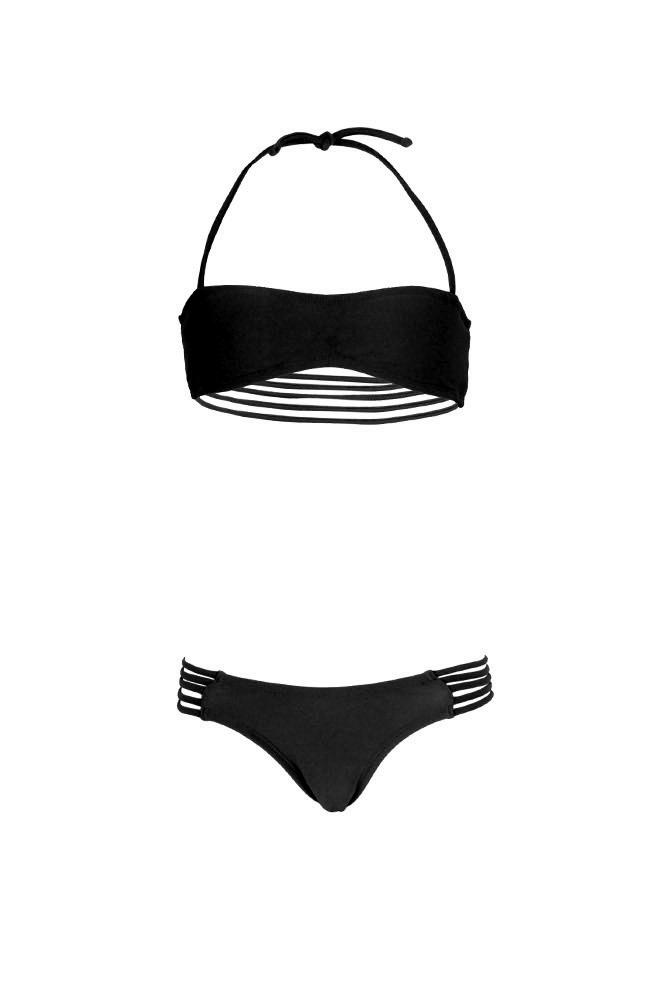 the latest 922c0 88bd6 Mon Mini Teenie Bikini nero - Costume 2 pezzi a fascia per bambina