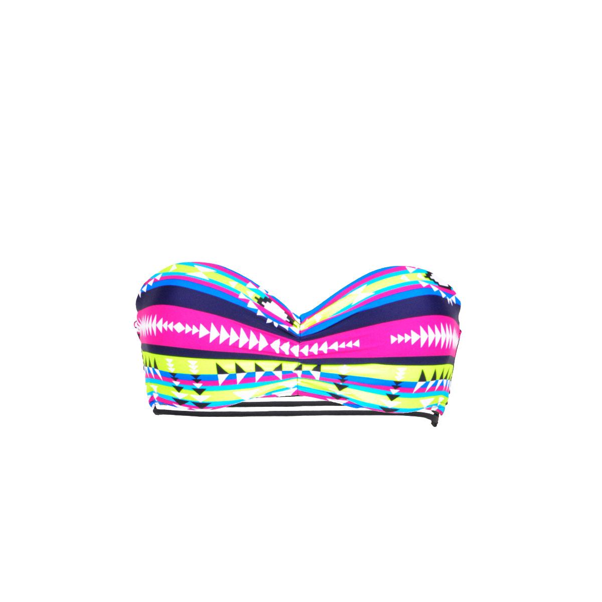 Costume a fascia multicolore Mon bandeau Teenie Bikini Aztèque (Pezzo sopra)
