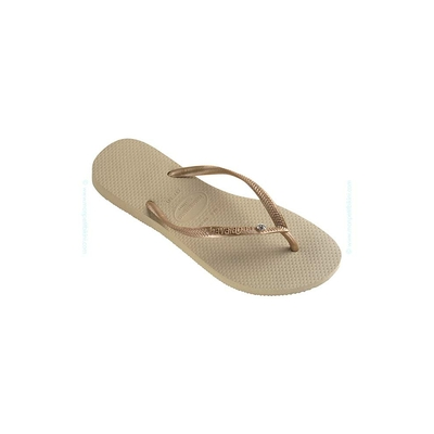 Infradito Slim Havaianas color beige sabbia Swarovski Element