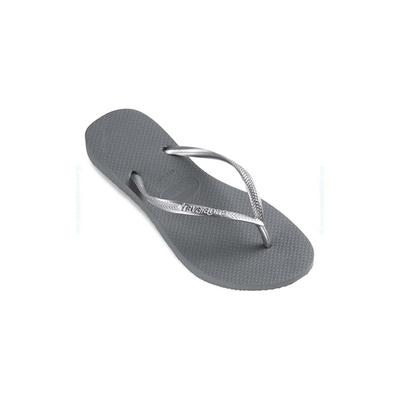Infradito Slim grigio metallizzato