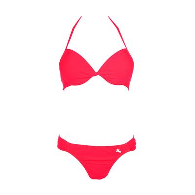 Costume da bagno push-up a 2 pezzi Unicool rosso fluo