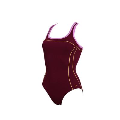 Costume intero avvolgente per sport acquatici Laure Manaudou - Wayko rosso bordeaux