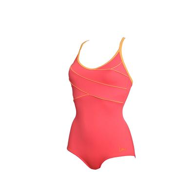 Costume da piscina Fuzeo snellente corallo - Laure Manaudou