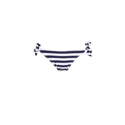 Mon Weenie Bikini a righe Blu Navy - Costume da bagno Slip con i lacci (Pezzo di sotto)