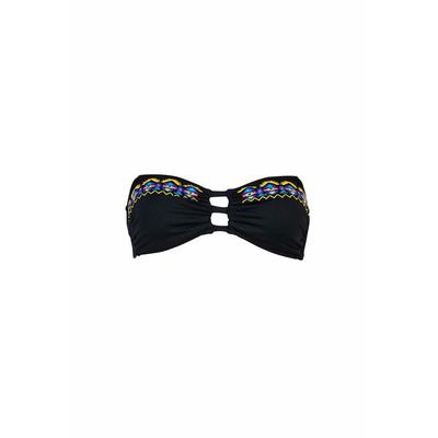 Costume da bagno a fascia nero Bluebell (pezzo di sopra)