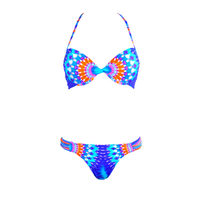 Costume da bagno 2 pezzi push-up Sun Power blu