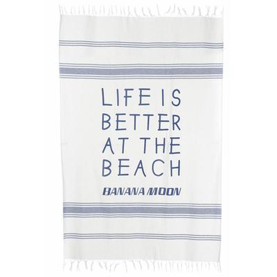Fouta da spiaggia blu navy Medina