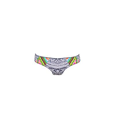 Slip bianco multicolore Mayan (pezzo di sotto)